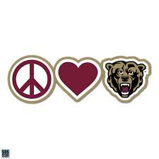 Peace Love Bear Vinyl Decal Ku Campus Store