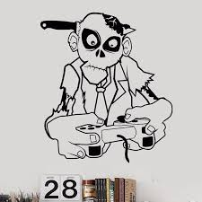 Zombie Decal Video Game Controller Sticker Play Decal Gaming Posters Gamer Vinyl Decals Decor Mural Video Game Wall Sticker Wall Stickers Aliexpress