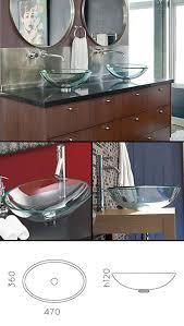 oval glass wash bowl oval glass