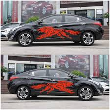 Wholesale 3d Wolf Totem Decals Car Stickers Full Body Car Styling Vinyl Decal Sticker For Cars Decoration Red From China