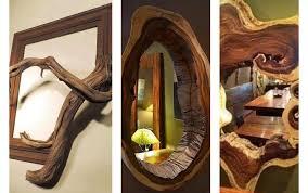 elegant rustic wooden mirror frames