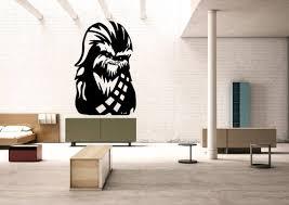 Chewbacca Decal Chewie Vinyl Star Wars Sticker Mural Wall Etsy