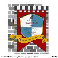 Heraldic Medieval Knight Party Invitation Zazzle Com Con