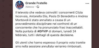 Grande Fratello VIP 4 annullato televoto: provvedimento ...