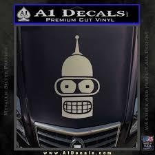 Futurama Bender Head Decal Sticker A1 Decals