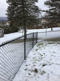 Great Installation Of A Black Vinyl Coated Chain Link Fence By Ryan And His Crew At Triborofence Chain Link Fence Fence Prices Chain Link Fence Gate