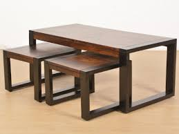 altura coffee table with nested stools