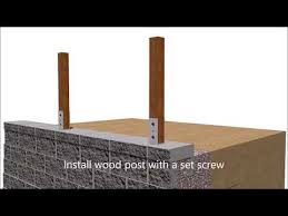 Wood Post In Retaining Wall Finish Youtube