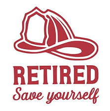 Custom Save Yourself Retired Firefighter Vinyl Decal Fireman Bumper Sticker For Laptops Or Car Windows Pick Size And Color Vinyl Transfer Wickedgoodz