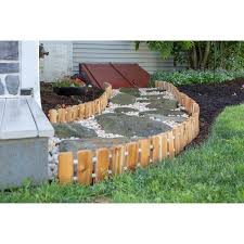 Shop Garden Edging Red Cedar Wood No Dig Roll Up Flower Bed Edges Overstock 22897378