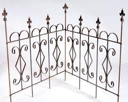 wrought iron garden edging fence