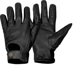mens black leather gloves motorcycle