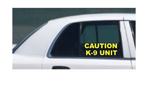 K 9 Unit Side Window Decal Set Police Dog White Sticker K9 Police Car Truck Suv Other Police Turnout Gear