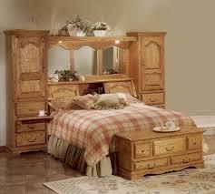 mirrored bed headboard storage towers