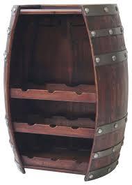 wine barrel 9 bottle wine holder with