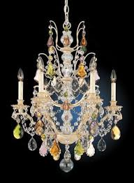 schonbek colored crystal chandelier