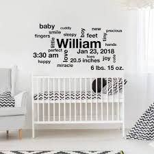 Boy Name Decals Designedbeginnings