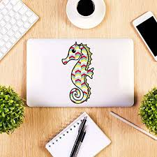 Houcong Color Seahorse Car Window Stickers Colorful Tribal Geometric Pattern Bumper Sticker Sea Horse Laptop Decals Wallpaper Home Decor Buy Online In India Missing Category Value Products In India