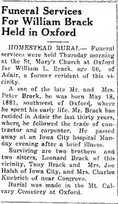 William Brack Obituary - Newspapers.com