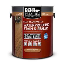 Semi Transparent Waterproofing Wood Stain Sealer Behr Premium Behr Canada