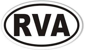 Rva Richmond Virginia Oval Bumper Stickers Stickercafe Com