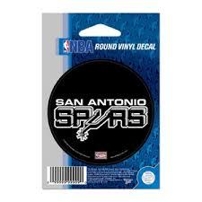 San Antonio Spurs Retro 3x3 Round Vinyl Sticker At Sticker Shoppe