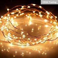 Dây đèn led đom đóm chụp ảnh, trang trí phòng, hoa,đặt vào bình thủy tinh  cổ tích nguồn pin tiểu vàng nắng 2 mét 1 mét