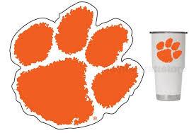 Clemson Tigers Orange Paw 3 Premium Vinyl Decal Sticker Etsy