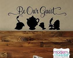 Beauty And The Beast Be Our Guest Vinyl Wall Decal Inside The Magic