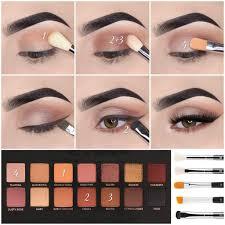 brown eyeshadow tutorial natural لم