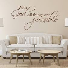 Bible Verse Wall Sticker With God All Things Are Possible Quote Home Vinyl Decor