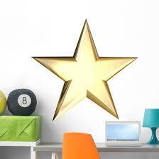 Gold Star Wall Decal Wallmonkeys Com
