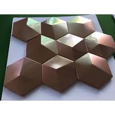 bronze metal mosaic tile stainless
