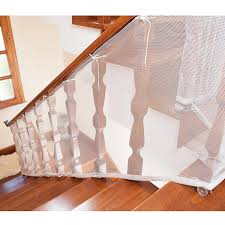 Child Safety Net 10ft L X 2 5ft H Balcony Patios And Railing Stairs Netting Safe Rail Net For Kids Pet Toy Sturdy Mesh Fabric Material White Color Walmart Com Walmart Com