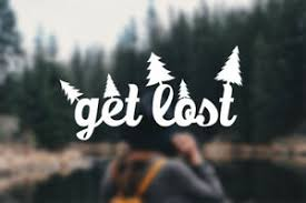 Get Lost Decal Travel Explore Outdoors Car Window Sticker Hiking Adventure Ebay