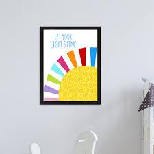 East Urban Home Let Your Light Shine Kids Wall Decor Wayfair