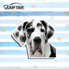 13cm X 11 3cm Great Dane Spot Dog Vinyl Decal Laptop Travel Luggage Car Sticker Helmet Waterproof Car Accessories Wish