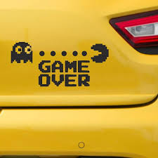 Game Over Car Sticker Games Stickers Ghost Car Vinyl Game Over Decal Video Game Stickers Game Over Car Decal 276 Car Stickers Car Vinyl