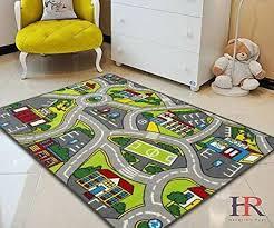 Kids Playmat Car Road Carpet 5x7 Nursery Rugs 8x10 Non Slip City Map For Sale Online