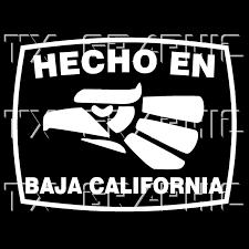 Details About Hecho En Baja California Estado De Mexico Aztec Aguila Decal Sticker Decals Vinyl Decals Surface