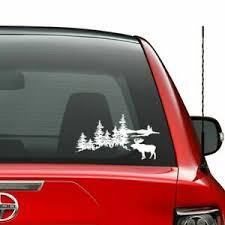 Outdoors Forest Moose Mountain Vinyl Decal Sticker Car Truck Vehi Ebay