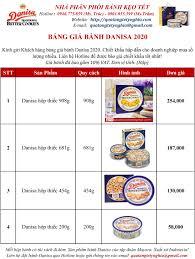 Bảng giá bánh Danisa hộp thiếc 2020