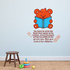 Zoomie Kids Write It Bear Vinyl Wall Decal Wayfair