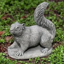 squirrel cast stone garden statue
