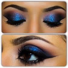 corrector makeup smokey blue makeup