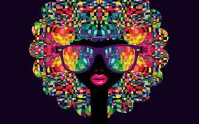 تحميل خلفيات مشرق صورة الأنثى فسيفساء صورة ملونة الطرف خلفية