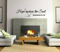 Hope Anchors The Soul Hebrews 6 19 Wall Decal Vinyl Verse Wall Decal Scripture Ebay