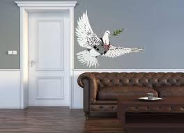 Banksy Peace Dove Wall Decal Canvas Art Rocks