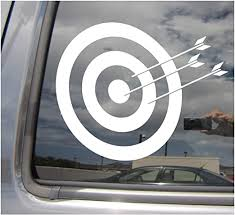 Amazon Com Right Now Decals Archery Target Archer Bow Hunting Cars Trucks Moped Helmet Hard Hat Auto Automotive Craft Laptop Vinyl Decal Store Window Wall Sticker 04051 Home Kitchen
