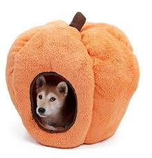 Dog House Indoor Halloween Pumpkin Kennel Cat Cave Soft Fleece Warm Bed With Removable Cushion Cat Bed Dog Bed Furniture Dog Bed